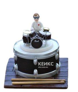 Торт музыканту Барабанщик за барабанами
