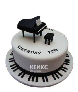Торт Музыка с клавишами и роялем