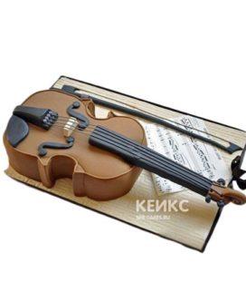 Торт музыка в виде скрипки