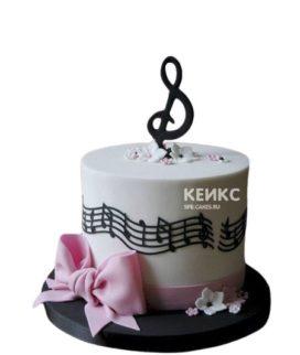 Торт музыка с ключом и нотами