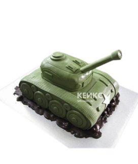 Торт на 23 февраля в виде танка