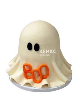 Забавный торт в виде призрака на Хэллоуин