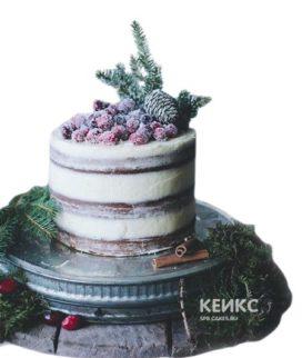 Торт на новый год с шишками