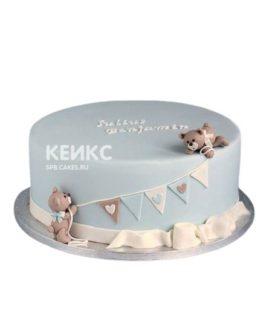 Торт на выписку с мишками