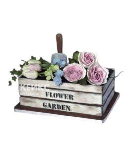 Торт огород в виде ящика с цветами