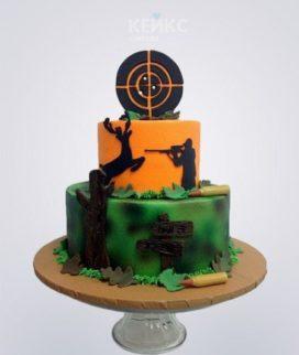 Торт охотнику с мишенью