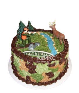 Торт охотнику с оленем