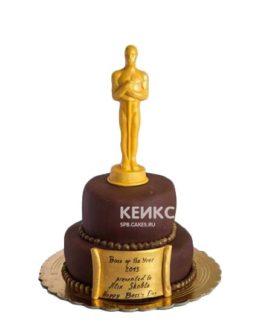 Торт Оскар с золотой статуэткой