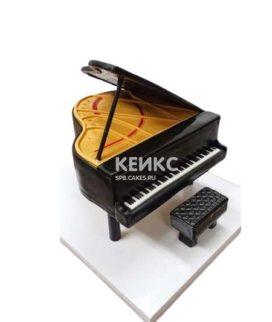 Торт в виде пианино черного цвета