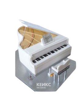 Шикарный торт в виде белого пианино