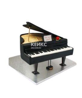 Торт в виде черного пианино