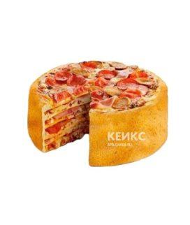 Торт многослойная пицца