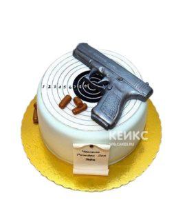 Торт пистолет с мишенью