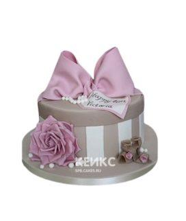 Торт в виде подарочной коробки