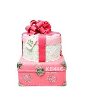 Торт в виде подарка для девушки