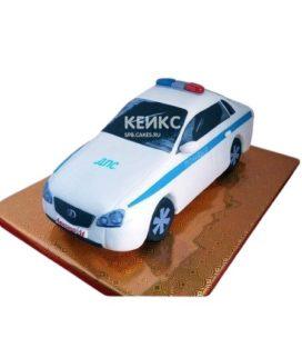 Торт в виде белой полицейской машины