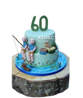 Торт с фигурками рыбаков