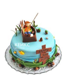 Торт рыбак на озере