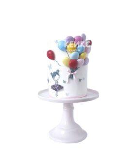 Торт с воздушными шариками для девочки