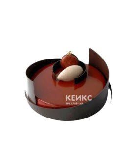 Красно-коричневый зеркальный торт