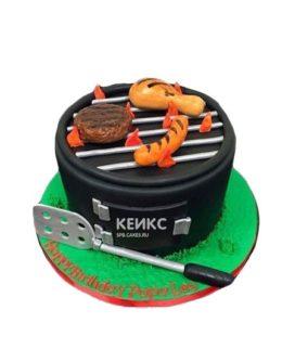 Торт Шашлык в виде мангала с лопаткой