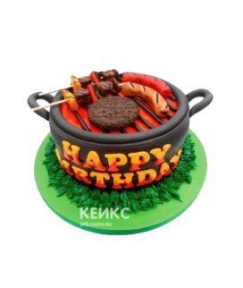 Торт шашлык в виде барбекю