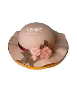 Торт женская шляпа с цветами