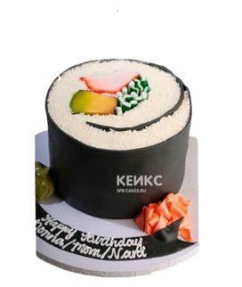 Торт Суши в виде большого ролла