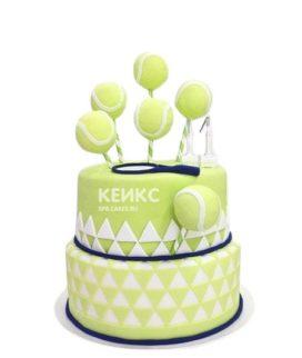 Торт теннис со сладостями в виде мячиков