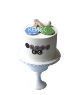 Торт настольный теннис ракетки и шарик