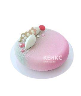 Велюровый торт розового цвета