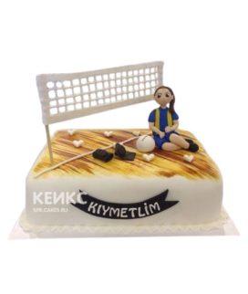 Торт волейбол девушка с мячом