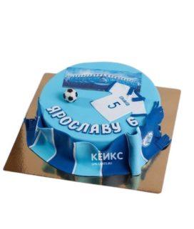 Голубой торт Зенит с шарфом