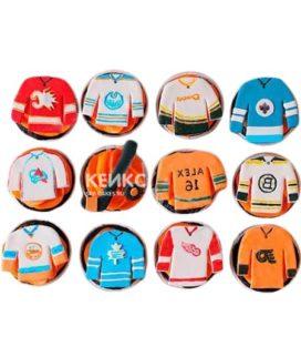 Капкейки хоккей с формой разных команд