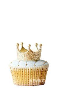 Капкейки корона золотая