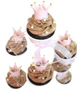 Капкейки корона розовая