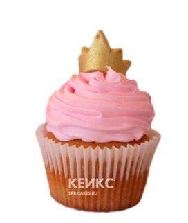 Капкейки розовые с золотой короной