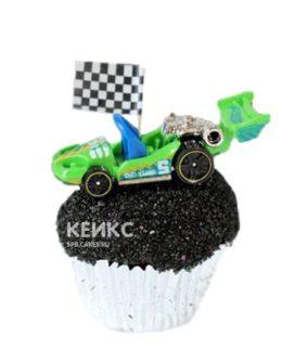 Капкейки зеленая гоночная машина