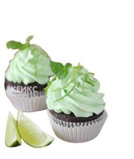 Капкейки мохито с зеленью и лаймом