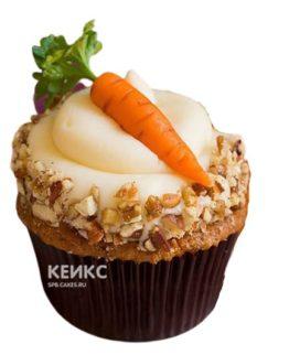 Морковные капкейки с белым кремом