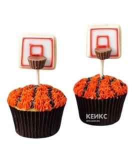 Капкейки спорт с баскетбольными щитами
