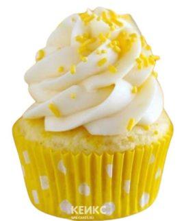 Желтые капкейки с посыпкой