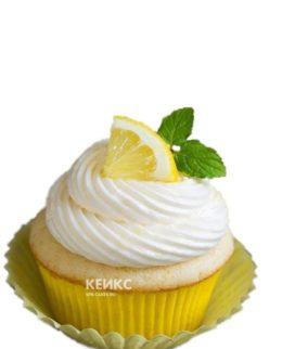 Желтые капкейти с лимоном и мятой