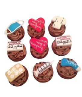 Шоколадные капкейки с сердцами для врача