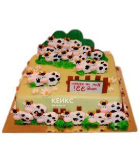 Квадратный торт 33 коровы