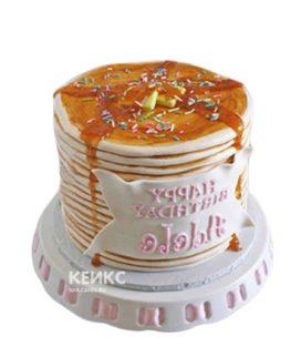 3д торт с надписью