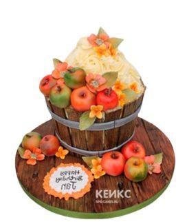 Торт 3D Бочонок с яблоками