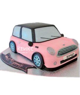 Розовый торт 3D автомобиль