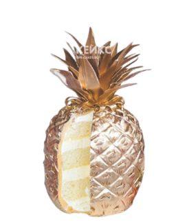 Торт 3D Золотой ананас