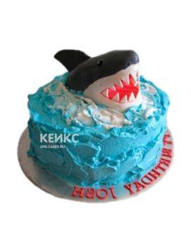 Торт Акула в волнах